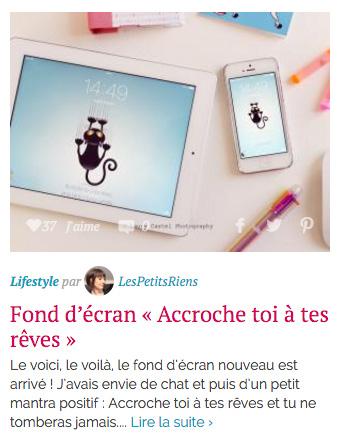 Hellocoton sélection lifestyle Les Petits Riens