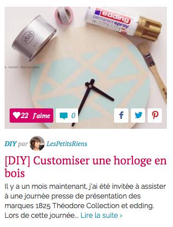 Sélection Hellocoton Créa Déco DIY Les Petits Riens