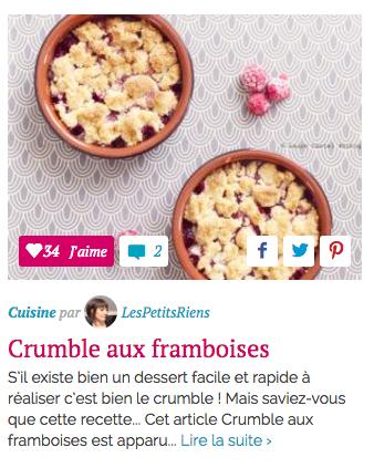 Sélection HelloCoton Cuisine recette Les Petits Riens