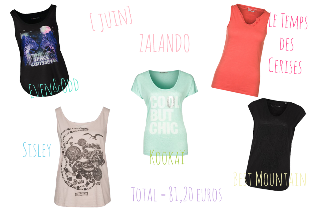 zalando soldes été 2014 t-shirt