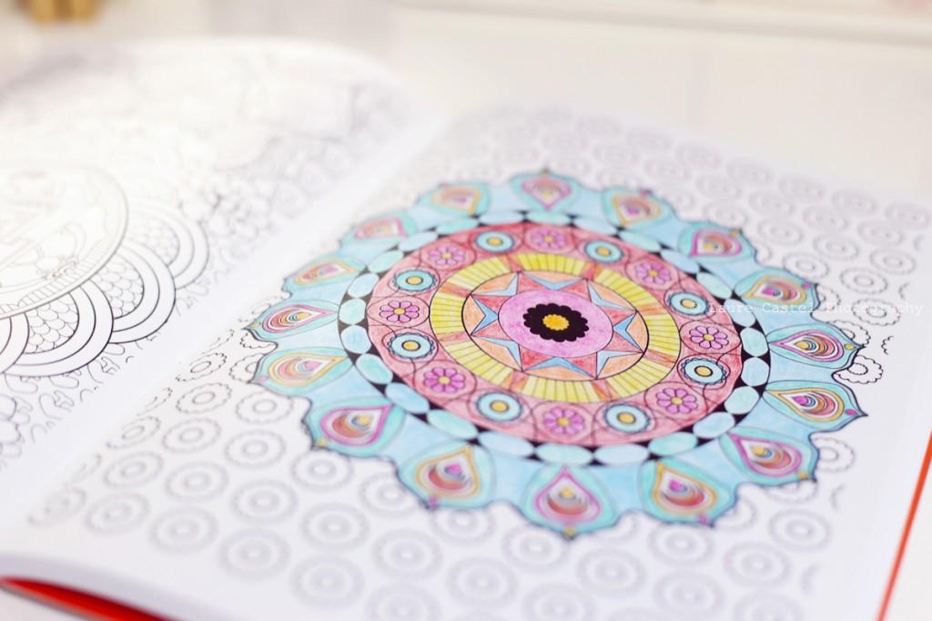 Mandala dessin zen anti-stress coloriage