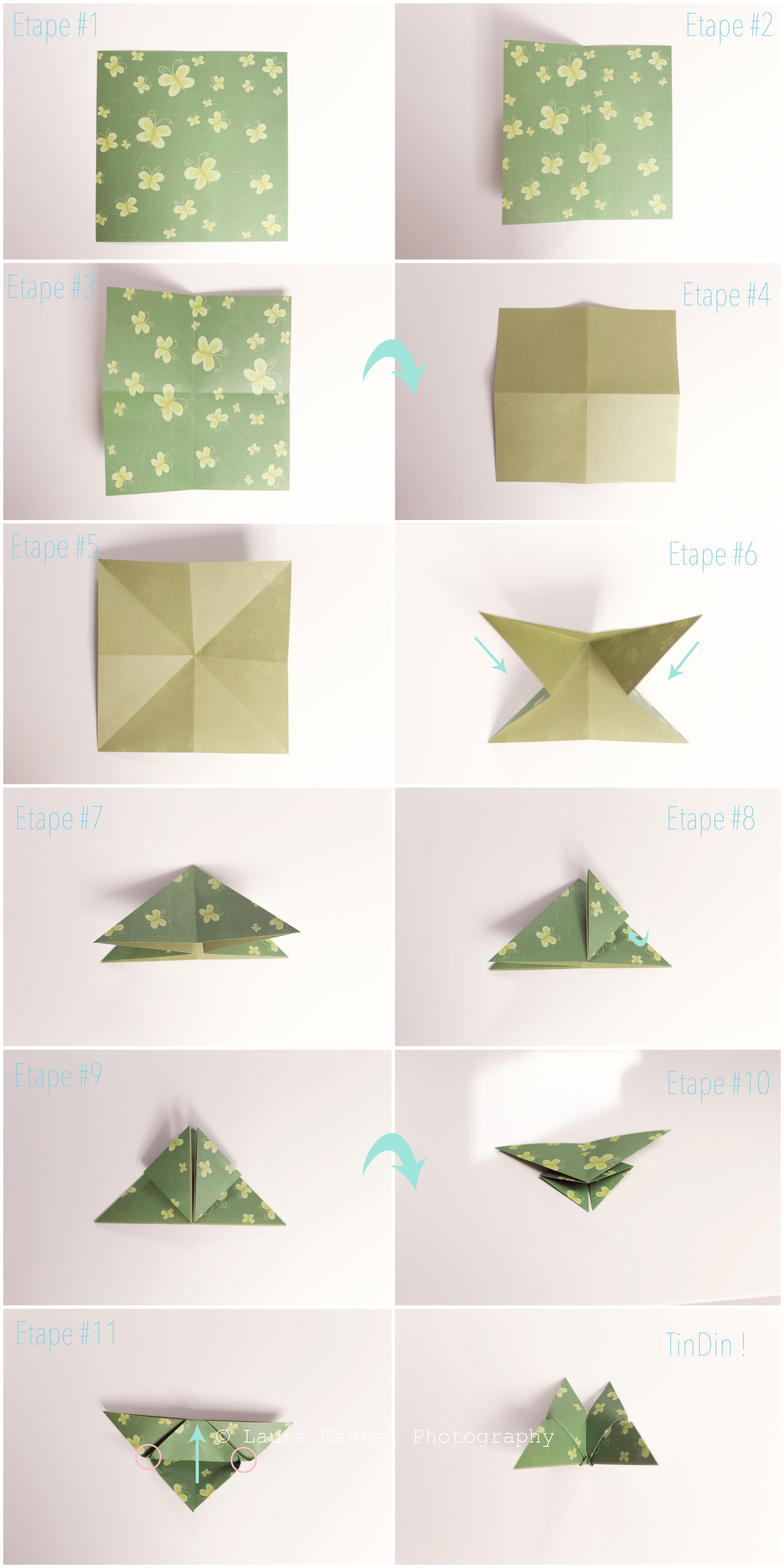 Diy Un Papillon En Origami Les Petits Riens