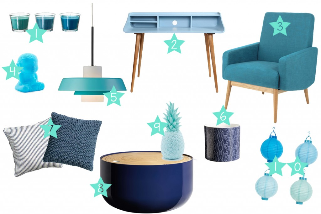 Deco salon bleu petrole canard accueil design et mobilier for Salon deco bleu