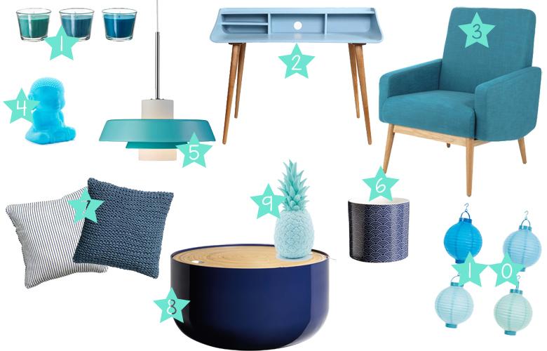 d co 50 nuances de bleu les petits riens. Black Bedroom Furniture Sets. Home Design Ideas