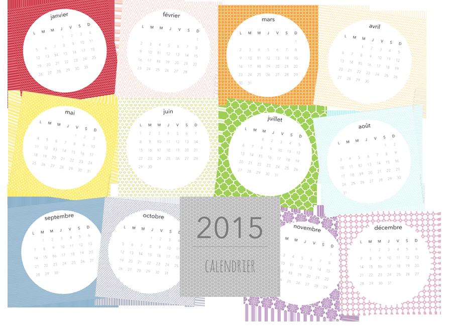 calendrier original a imprimer