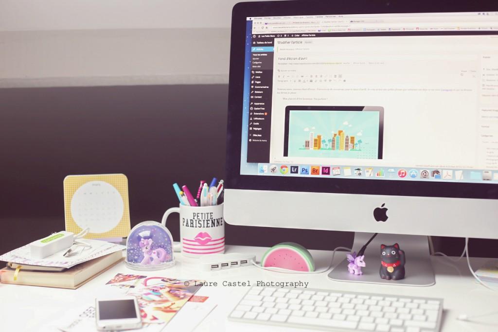 Bureau blogueuse Les Petits Riens