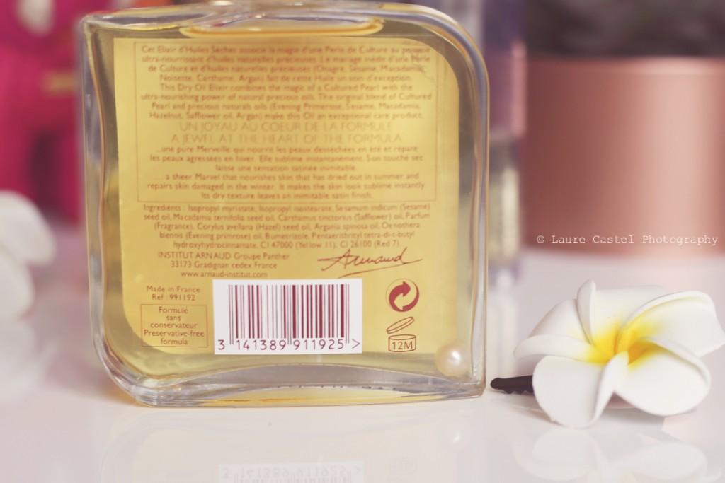 Elixir d'huiles sèches Institut Arnaud avis