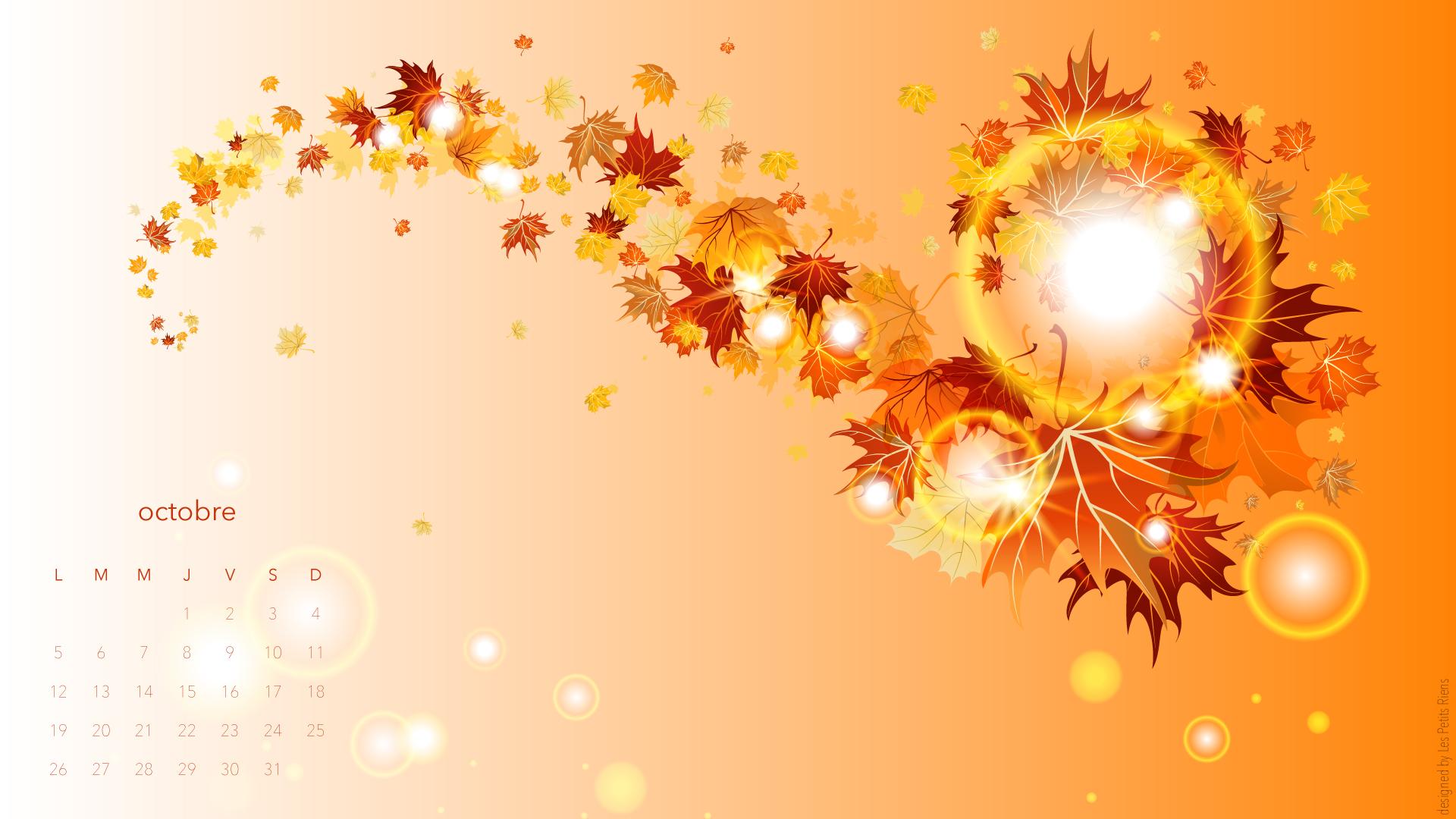 Fond d 39 cran d 39 octobre les petits riens for Fond ecran novembre