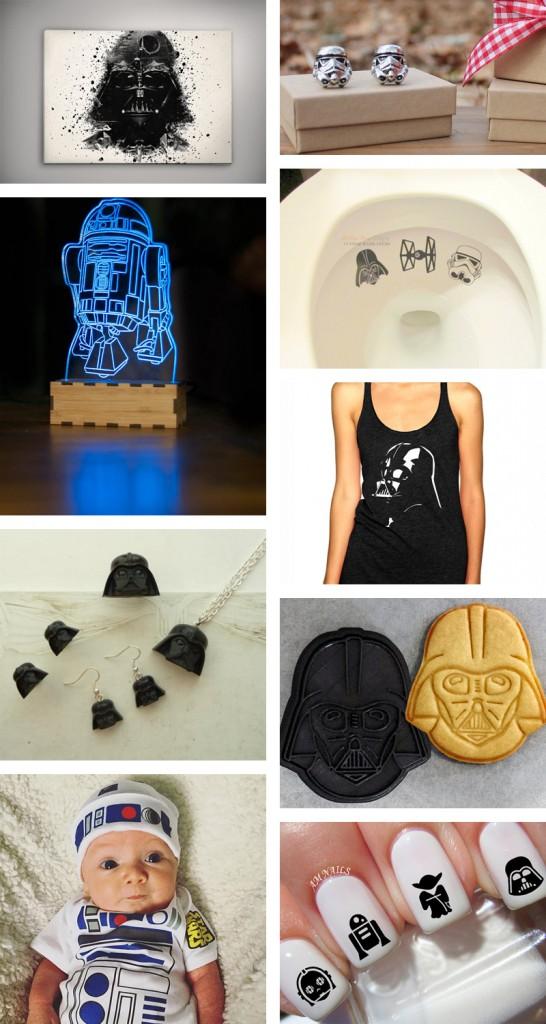 Star Wars Episode 7 idées cadeaux noel etsy