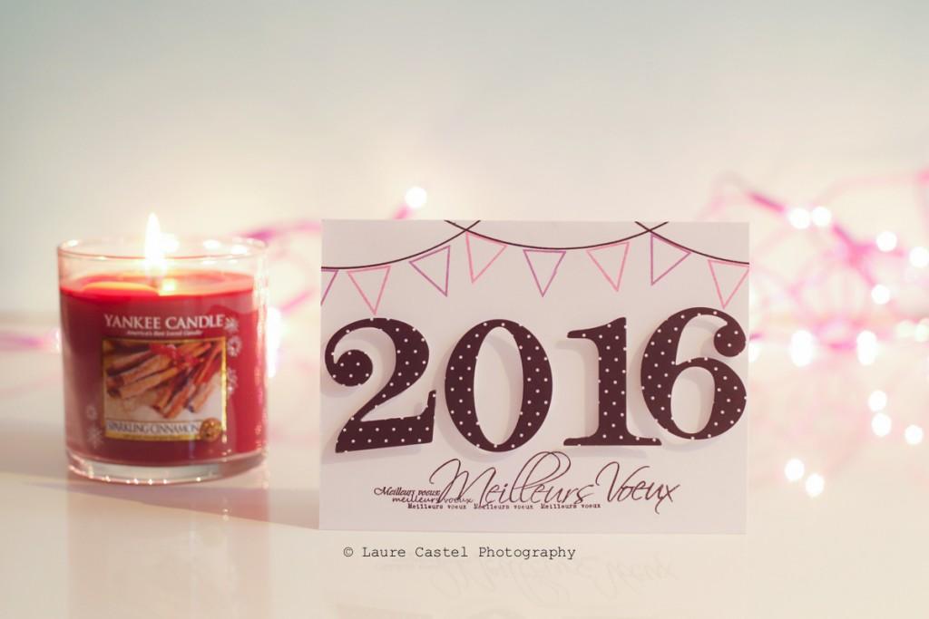 Carte de voeux bonne année 2016 scrap Les Petits Riens