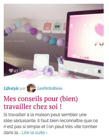 Sélection lifestyle Hellocoton Les Petits Riens