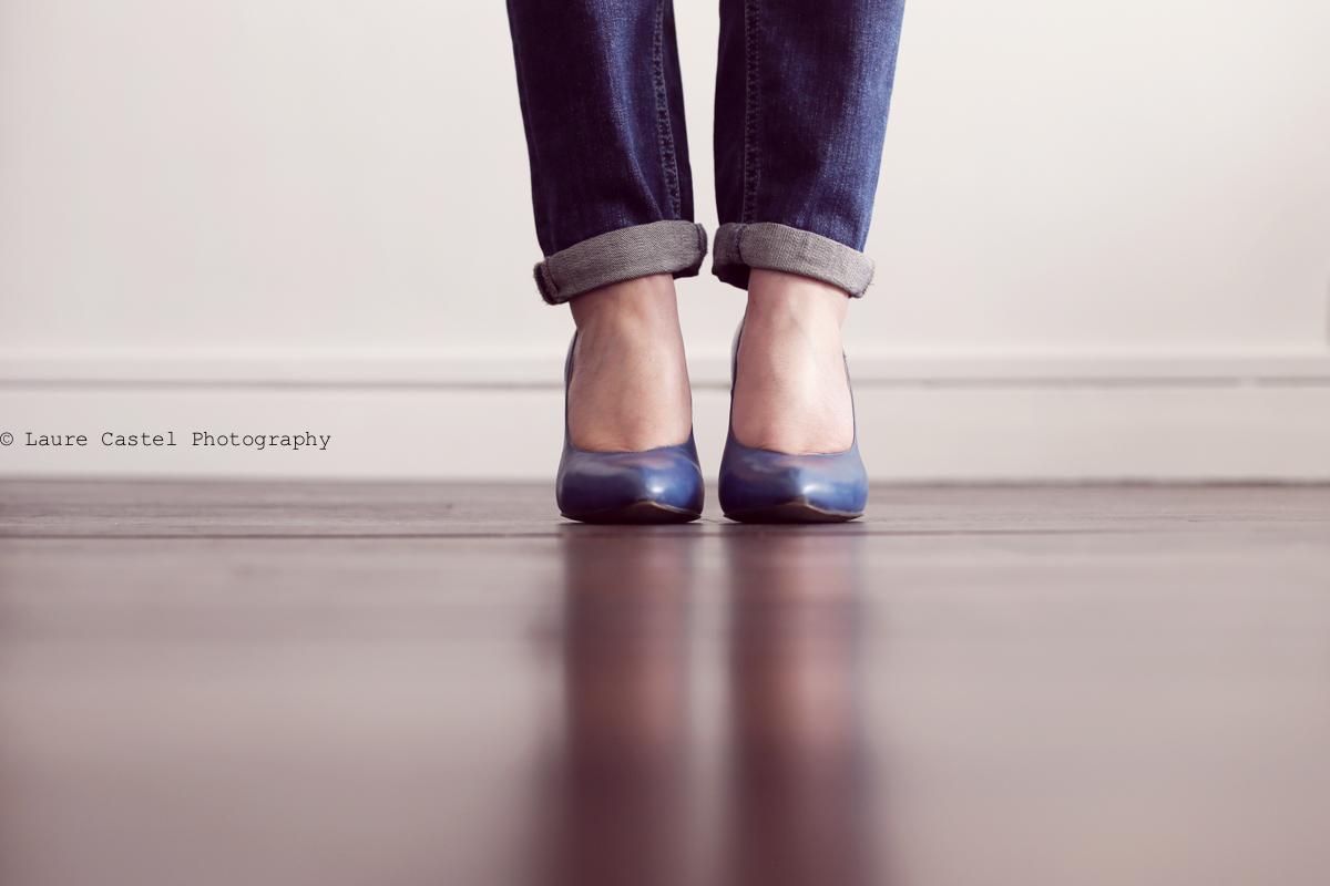 Sweat IKKS escarpins bleu Noe Les Petits Riens