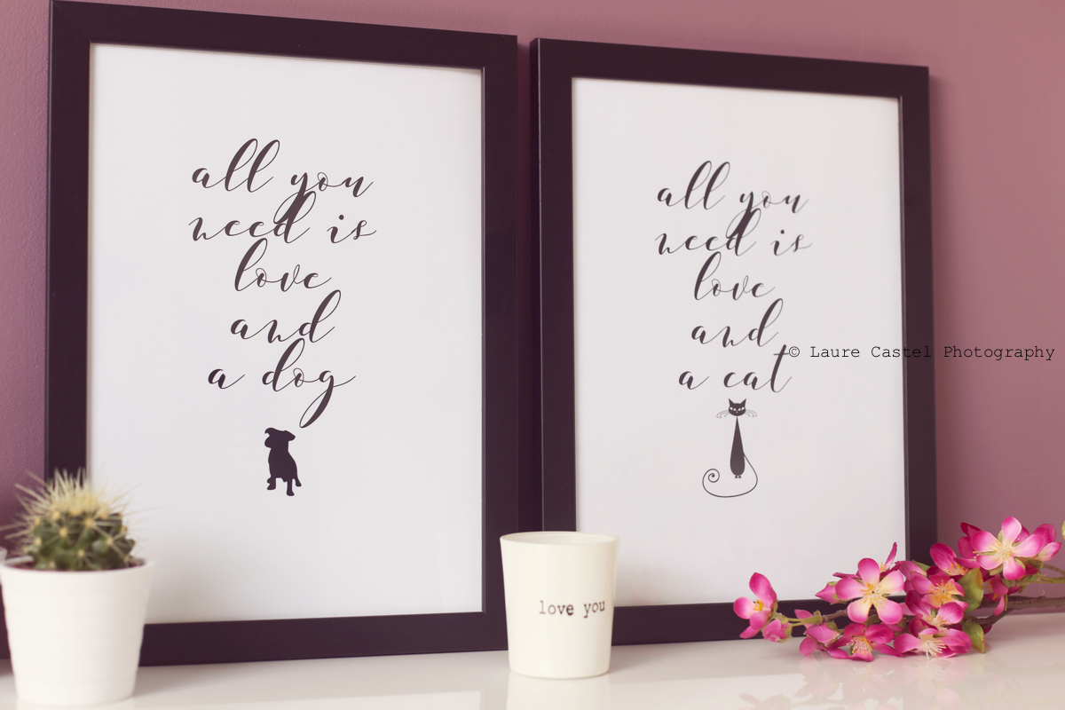Affiche All you need is love and a dog A4 à imprimer
