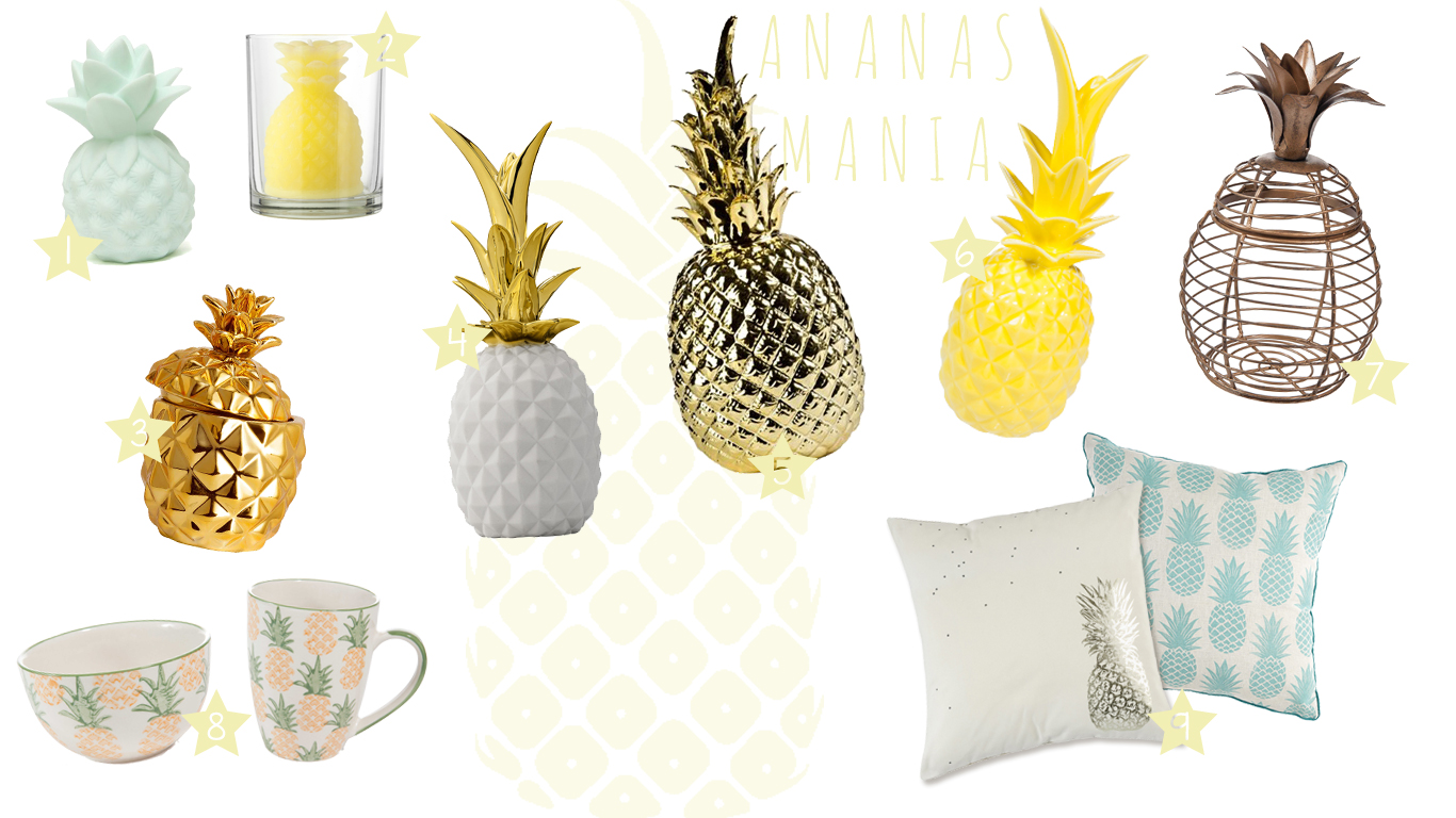 d co ananas mania les petits riens. Black Bedroom Furniture Sets. Home Design Ideas