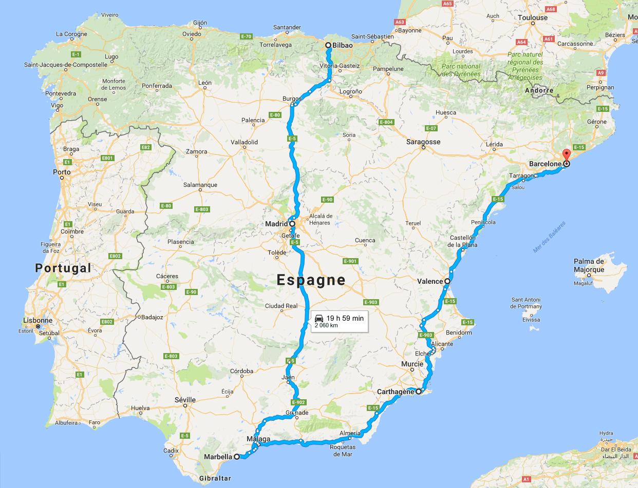 Voyage Espagne 15 jours