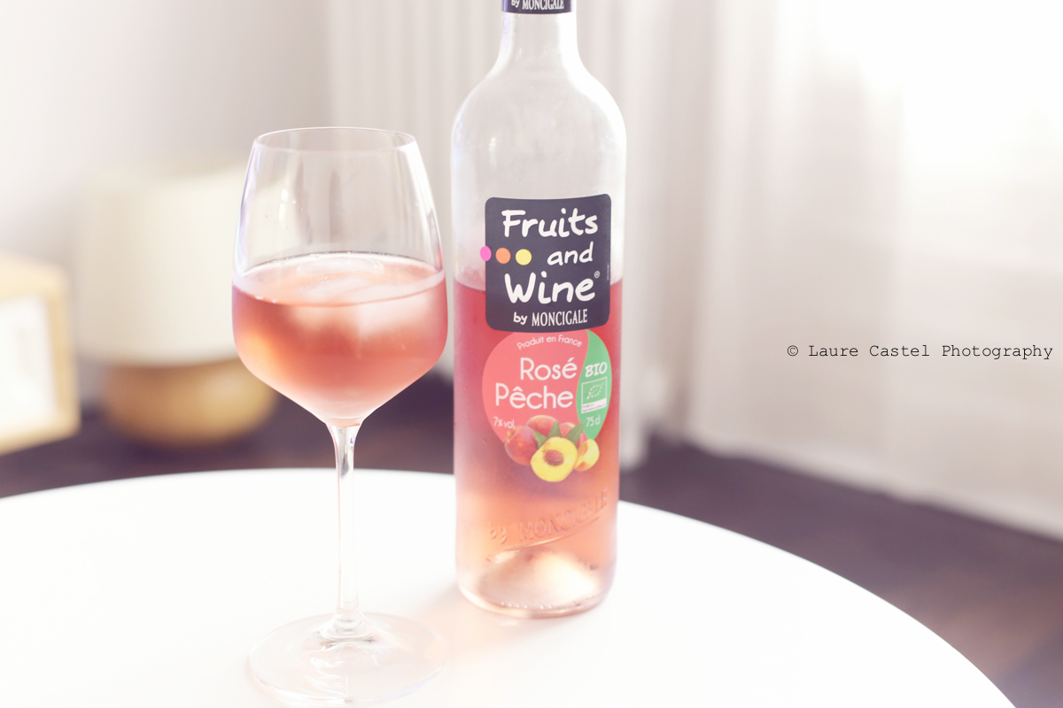 Rosé pêche avis Fruits and wine