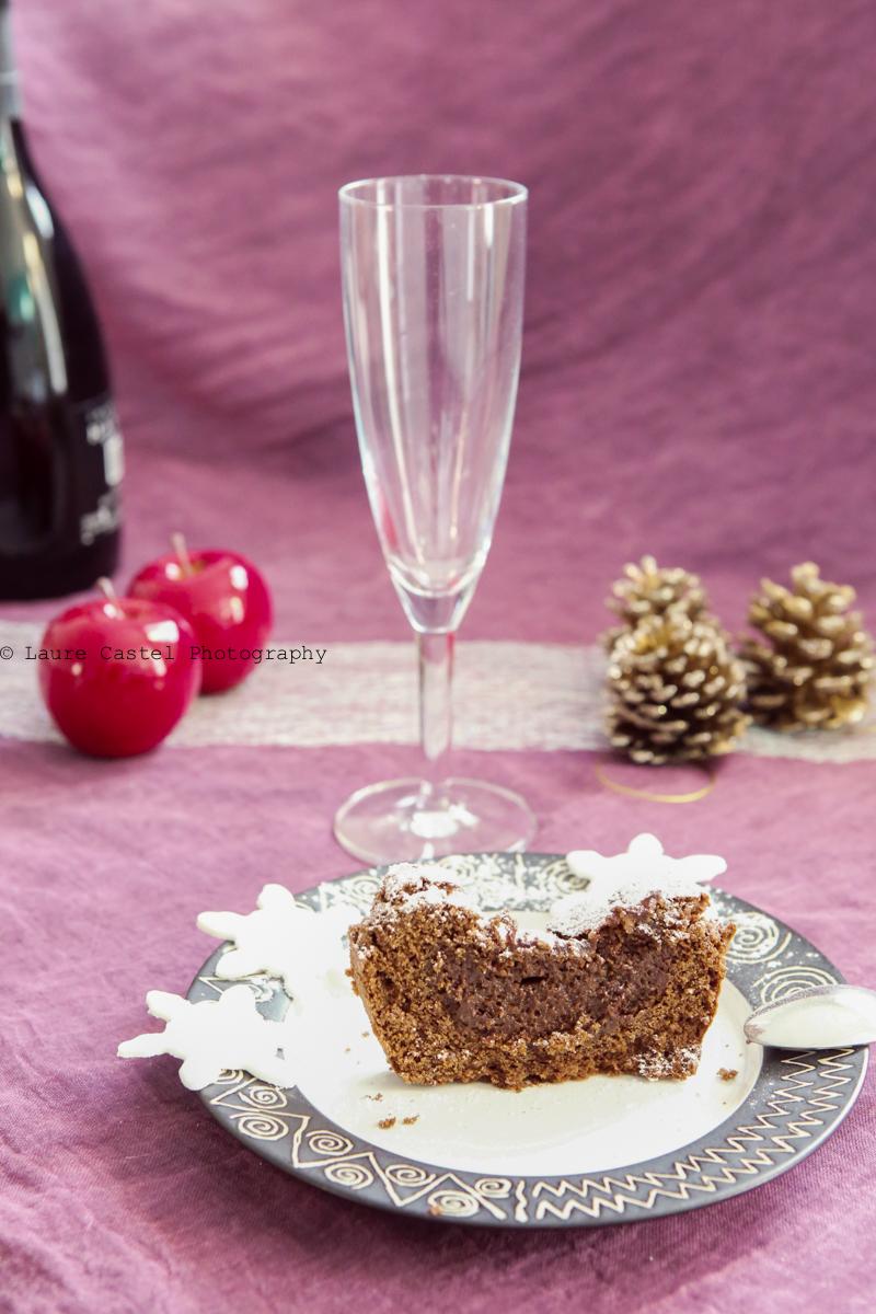 Gâteau au chocolat et lait de soja