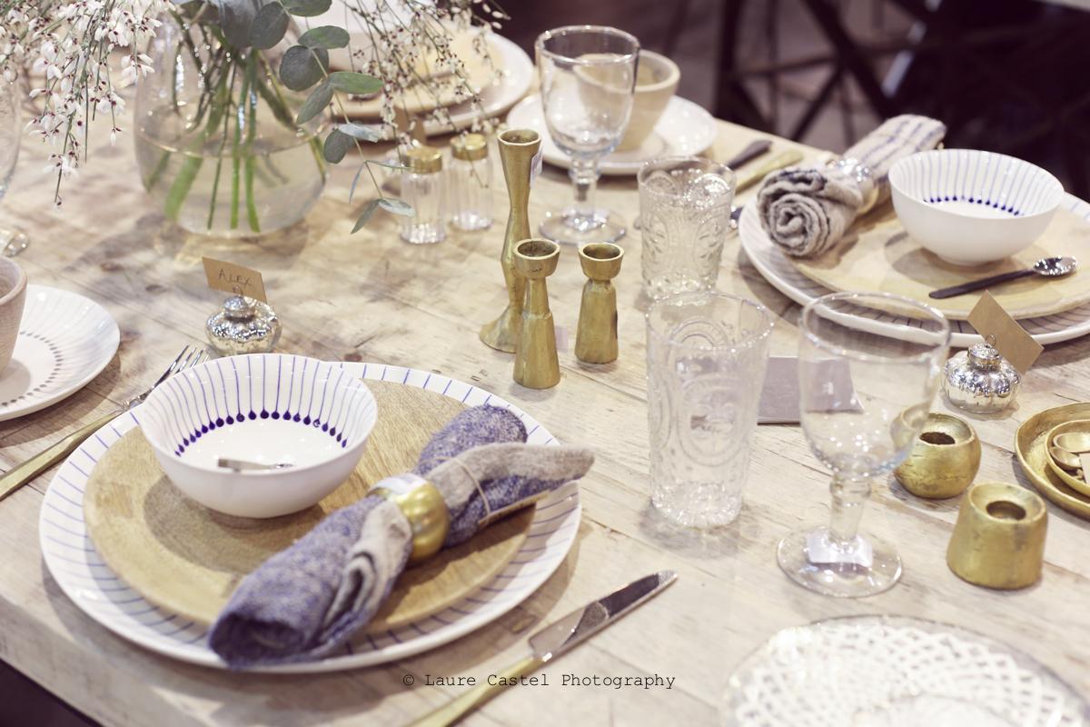 Décoration table estivale