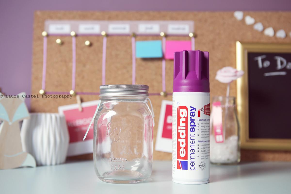 diy] décorer des pots en verre | les petits riens