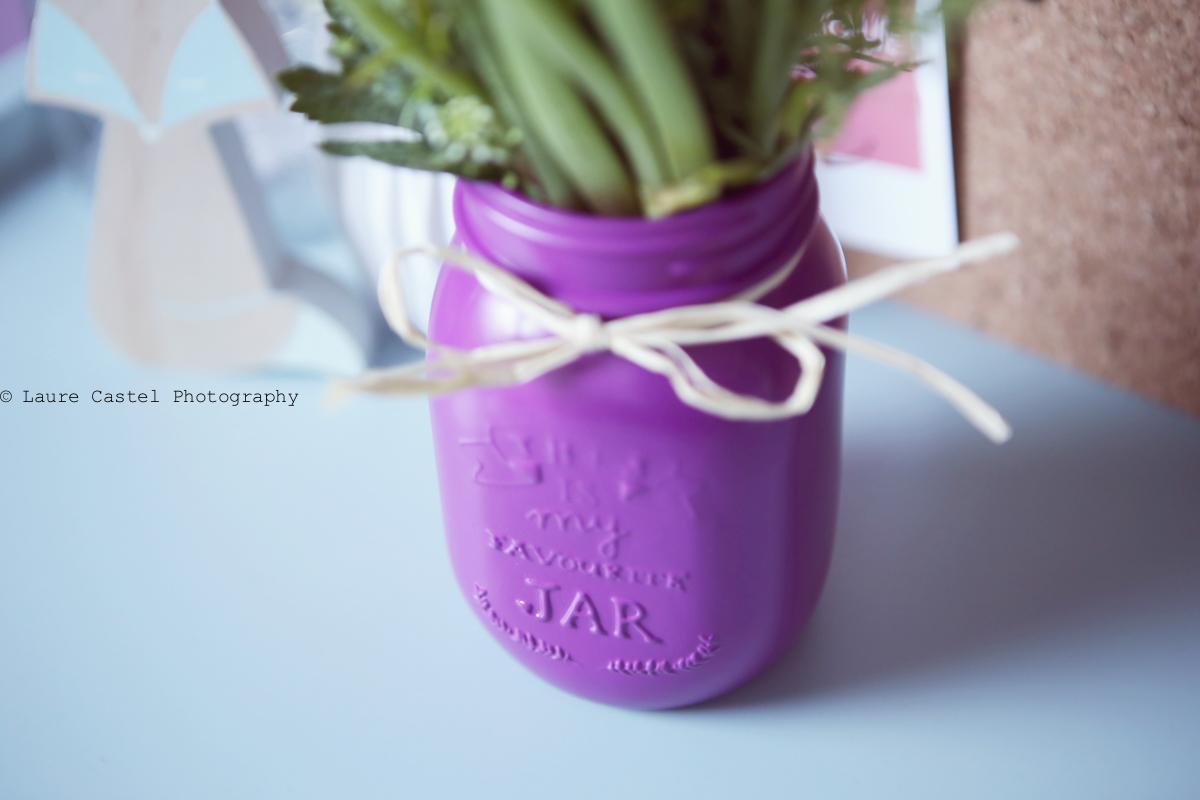 DIY décorer des pots en verre