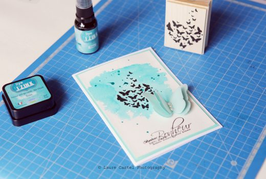 Aladine encre iZink Dye carte scrap mariage