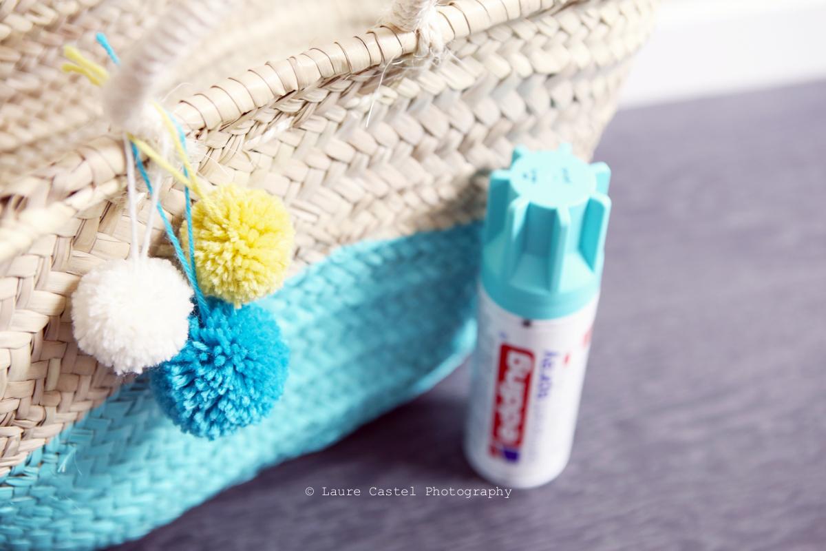 Spray Edding panier osier DIY