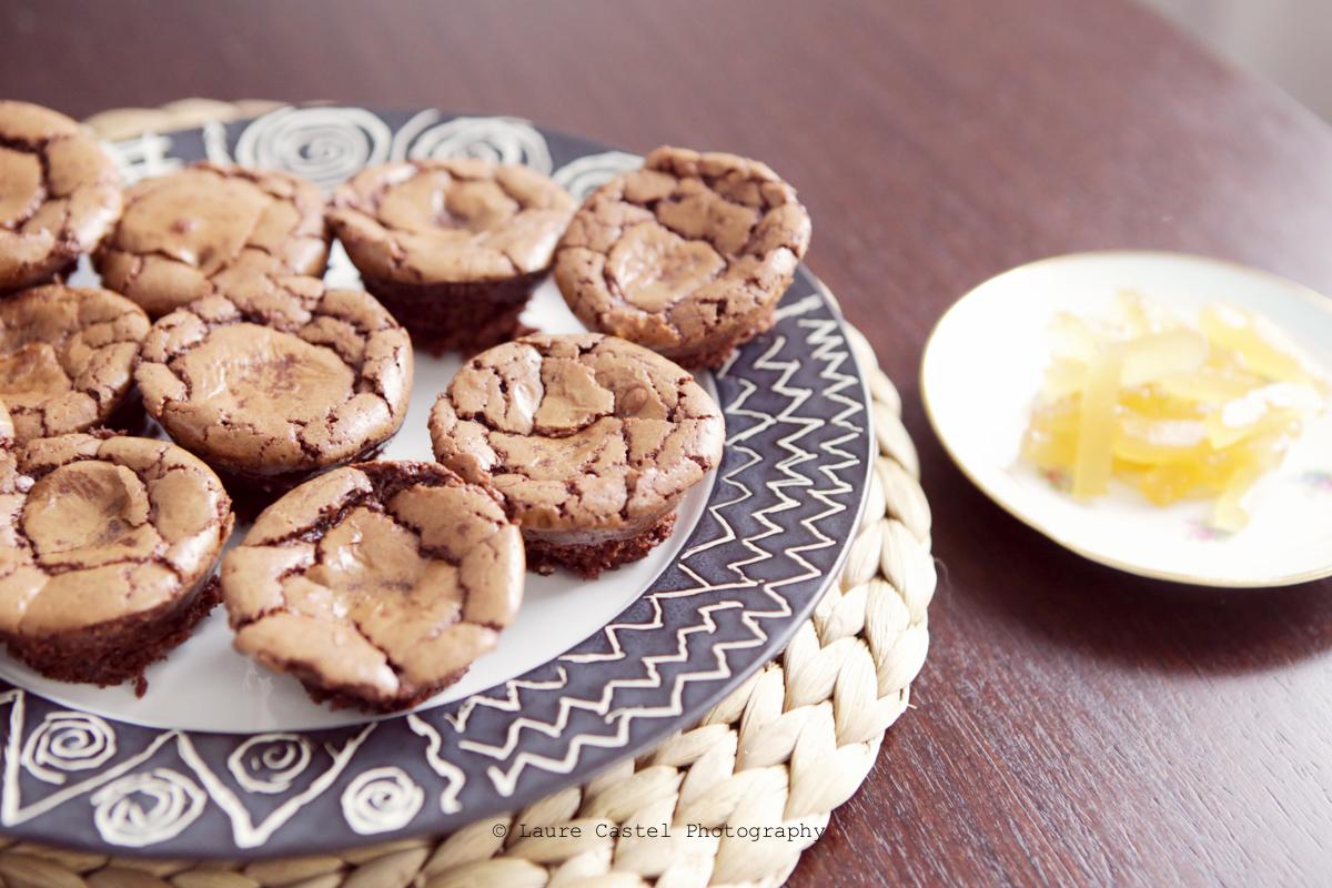 Muffins Chocolat Gingembre confit recette   Les Petits Riens