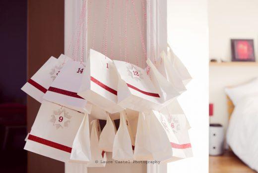 DIY Calendrier de l'Avent blanc et rouge | Les Petits Riens