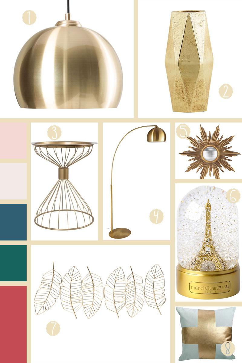 La Tendance Touhc Gold en décoration | Les Petits Riens