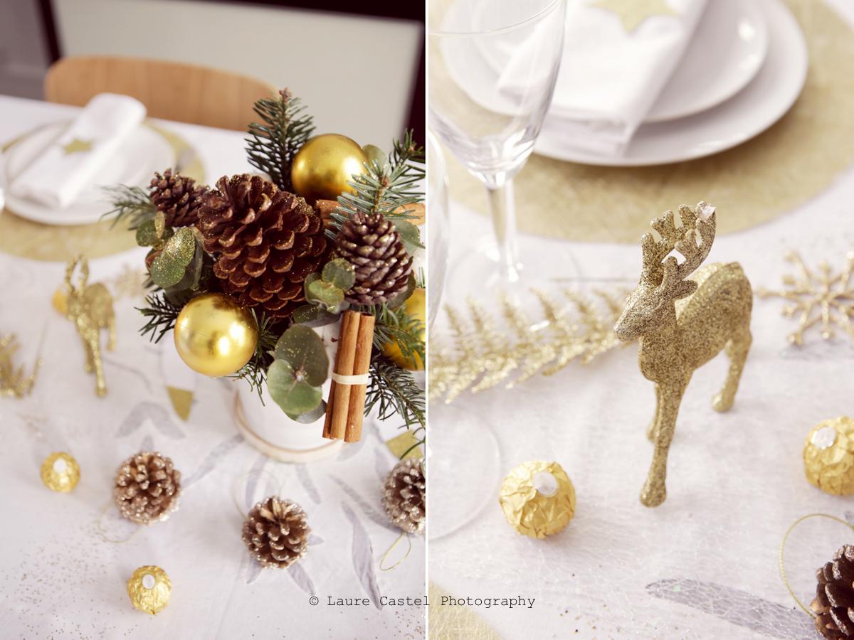 Table de Fêtes doré et blanc | Les Petits Riens