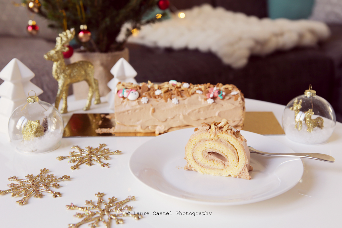 Bûche de Noël chocolat caramel recette | Les Petits Riens