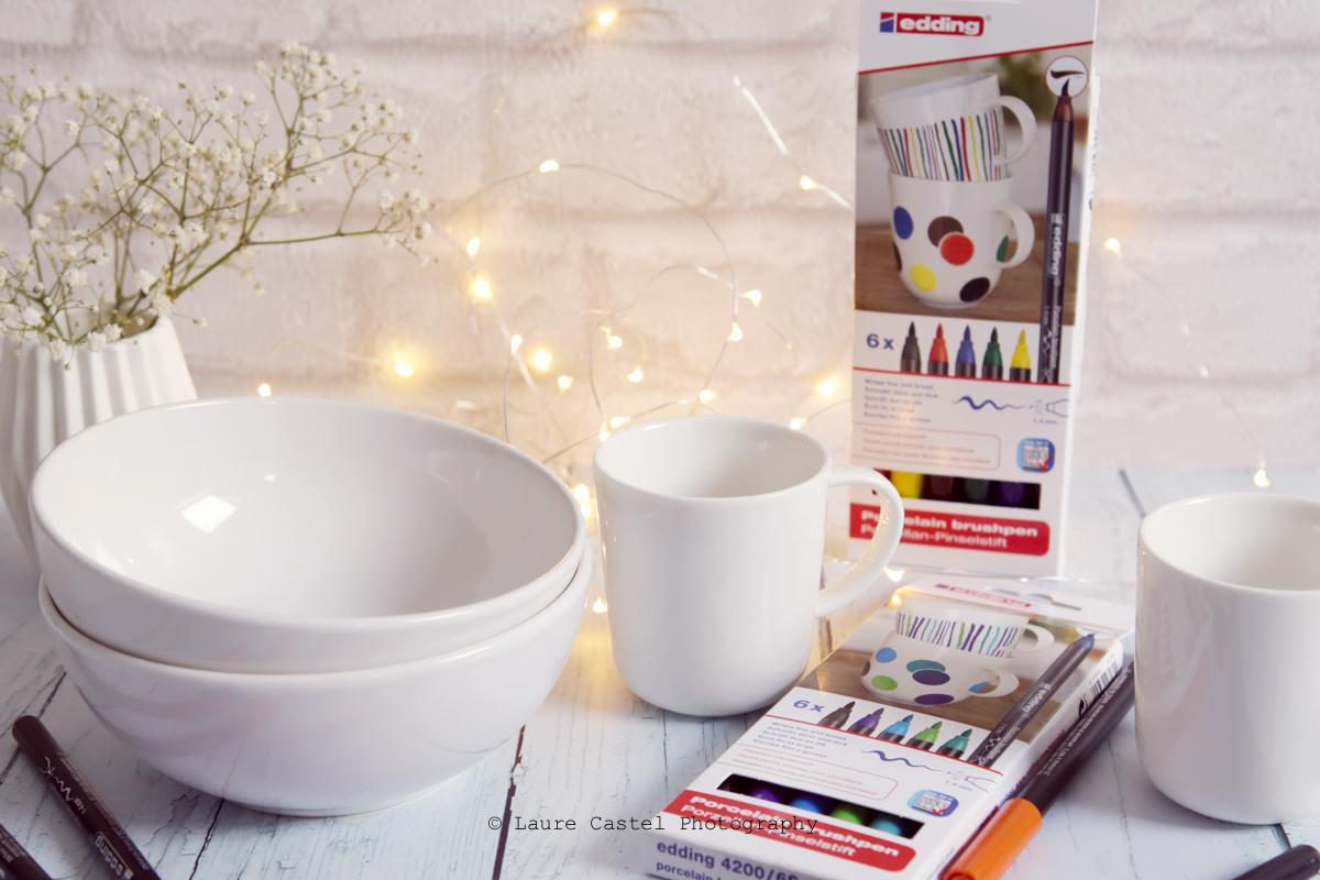DIY décorer de la porcelaine avec des feutres Edding | Les Petits Riens