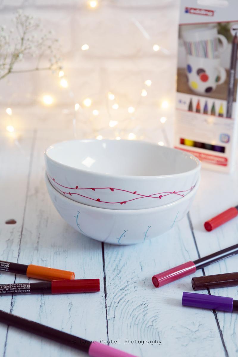 DIY feutres Edding pour porcelaine | Les Petits Riens