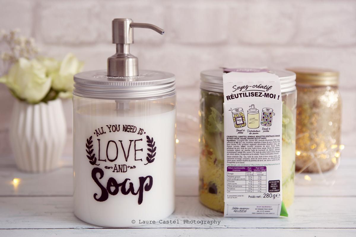 saladJar Fleury Michon DIY recyclage | Les Petits Riens