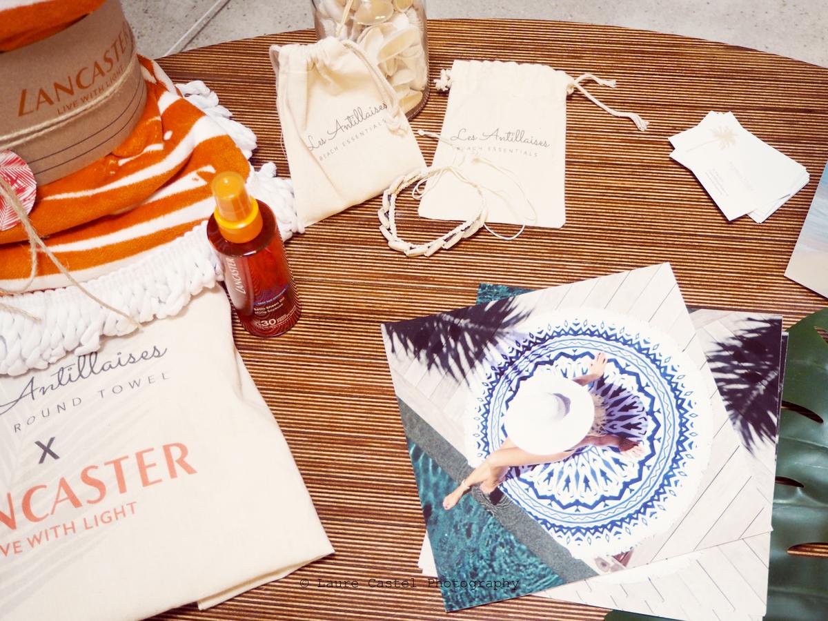 Les Antillaises serviettes rondes de plage Poulette Sun Party | Les Petits Riens