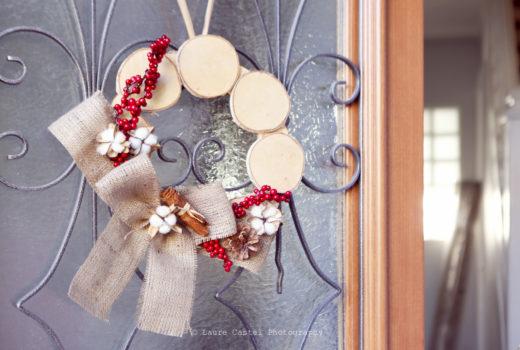 DIY Couronne de Porte en Bois Noël | Les Petits Riens