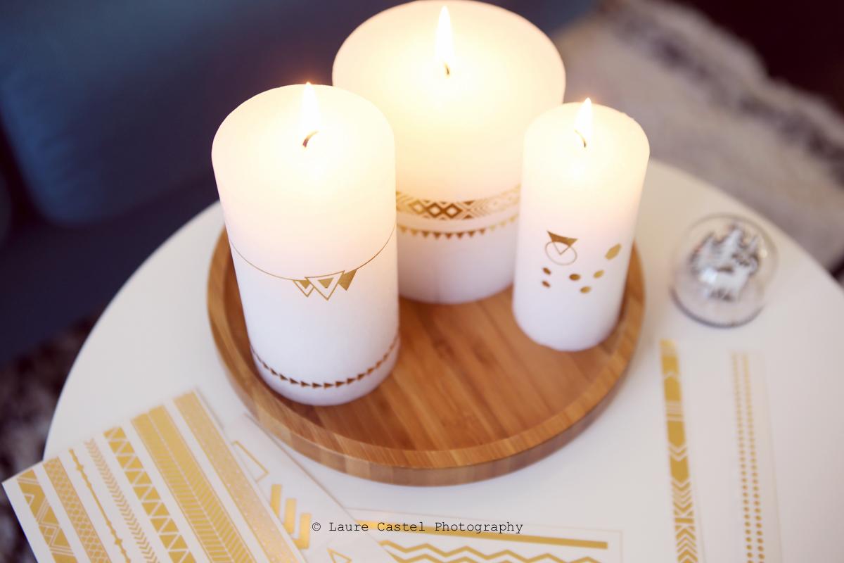 DIY Customiser des bougies avec tattoos | Les Petits Riens