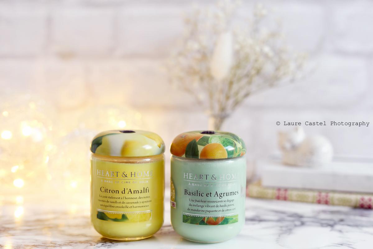 Bougies Heart & Home Basilic et Agrumes Citron d'Amalfi | Les Petits Riens