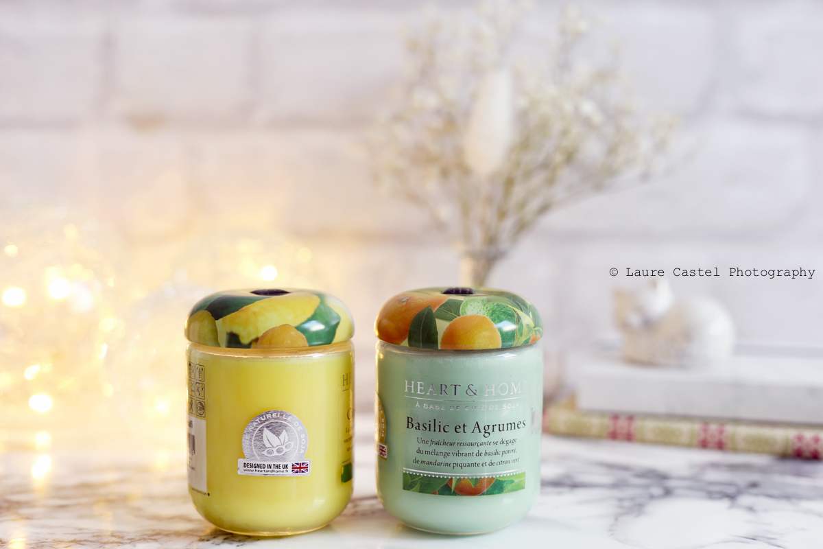 Bougies Heart & Home Basilic et Agrumes cire de soja | Les Petits Riens