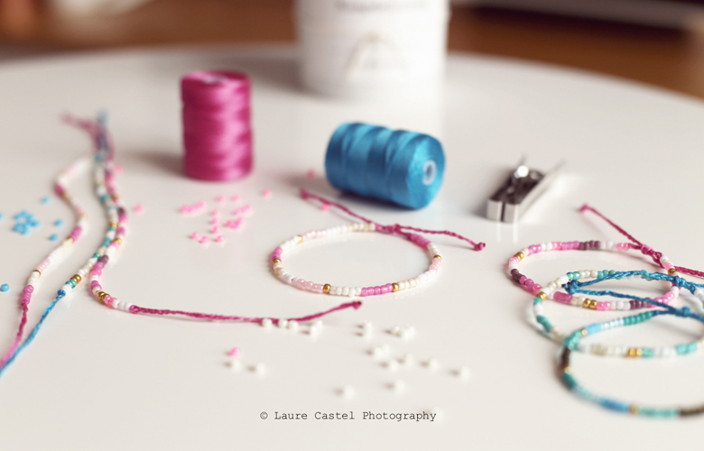 Bracelets en perles de rocailles Les Petits Riens
