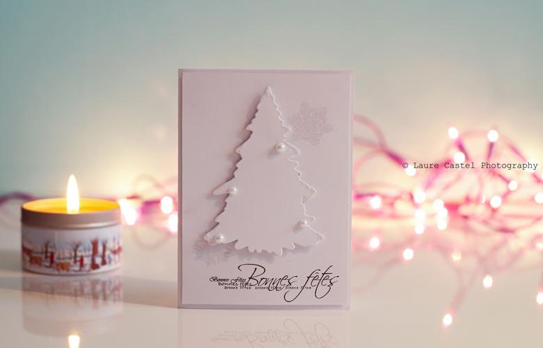 Carte de voeux bonnes fêtes Noël bonne année 2016 scrap Les Petits Riens
