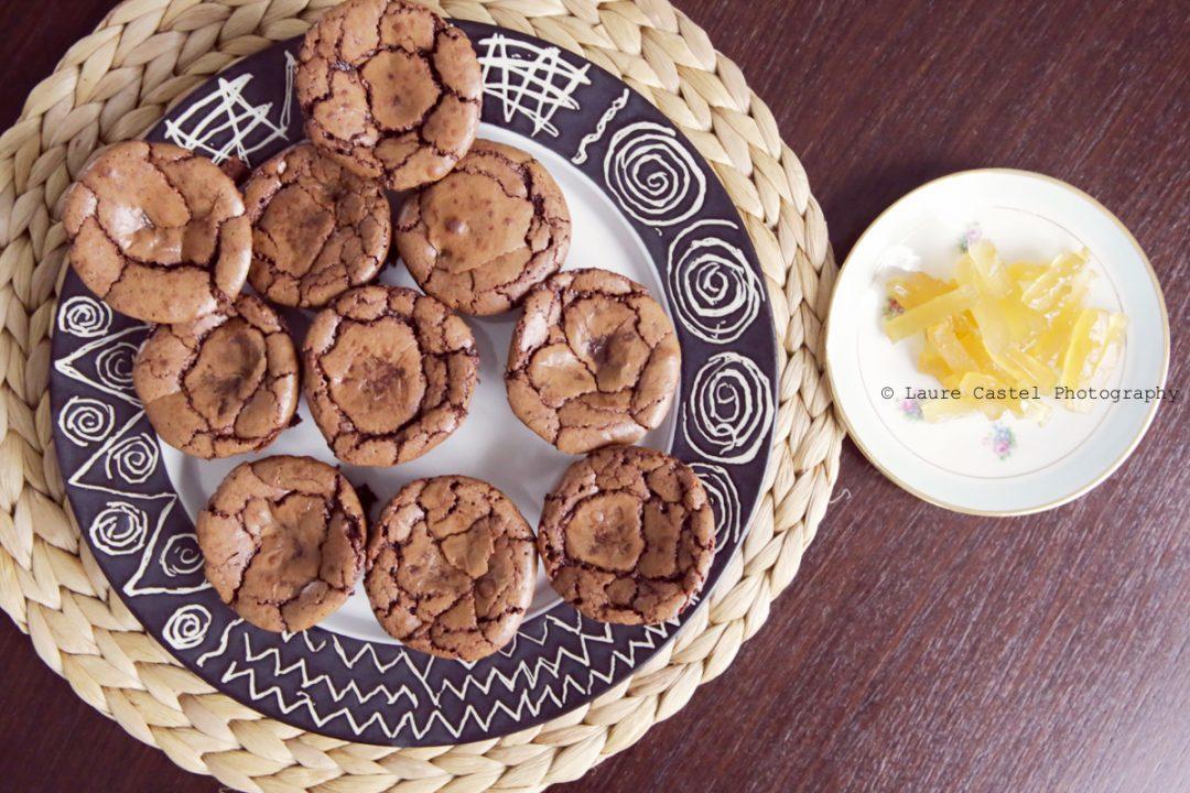 Muffins Chocolat Gingembre confit recette | Les Petits Riens