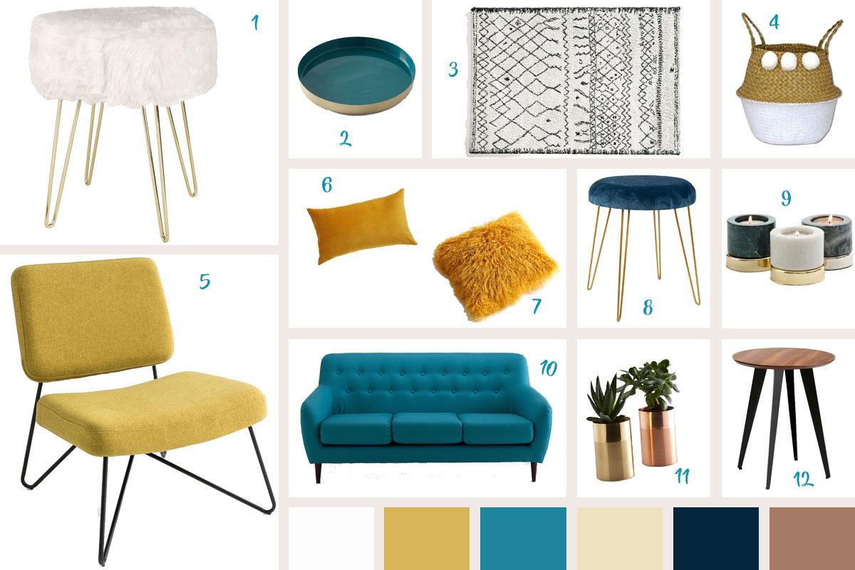 100 Fantastique Concepts Déco Jaune Bleu Canard