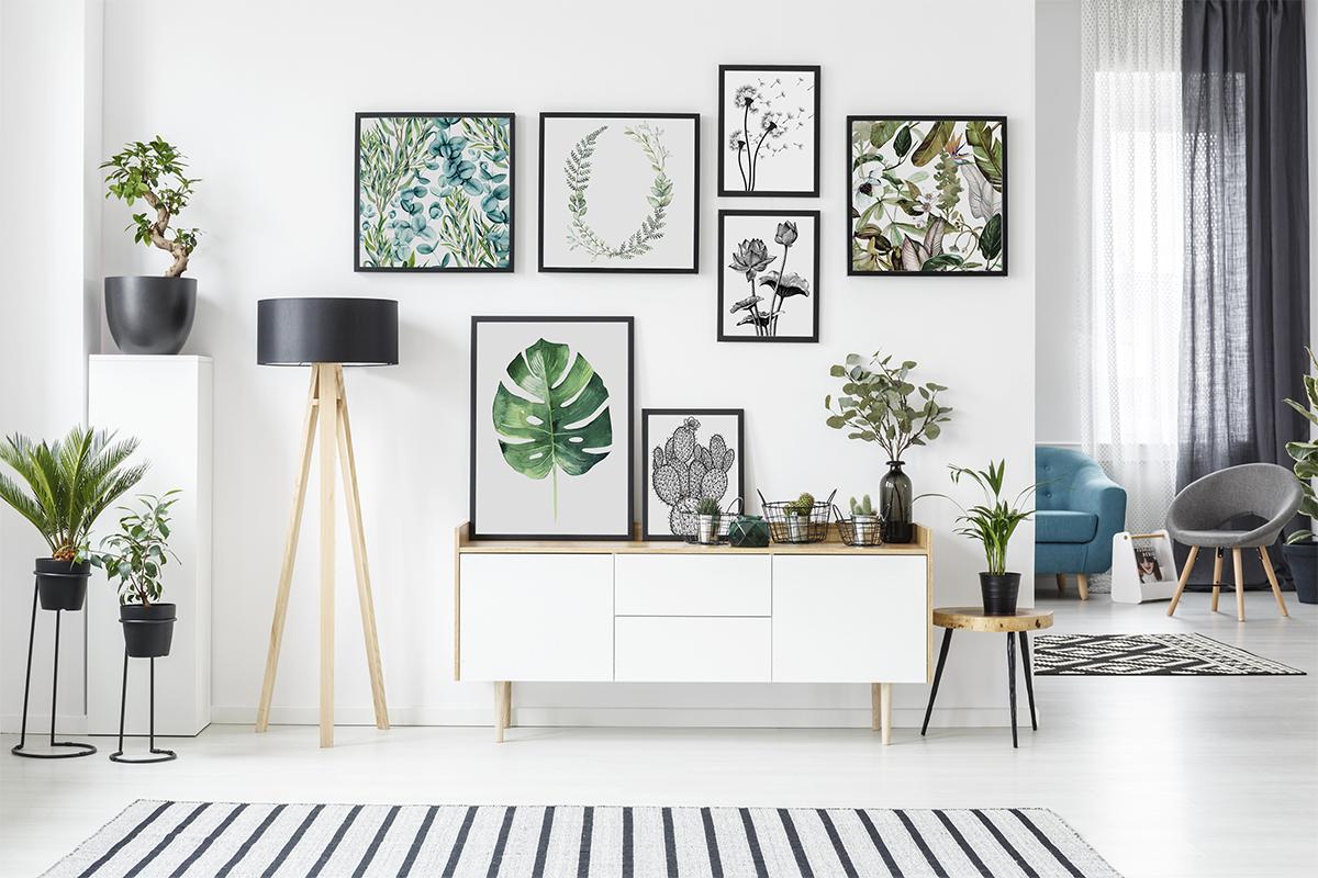 Deco Cadre Photo Mur mur de cadre avec des fleurs - image fleur salon | les