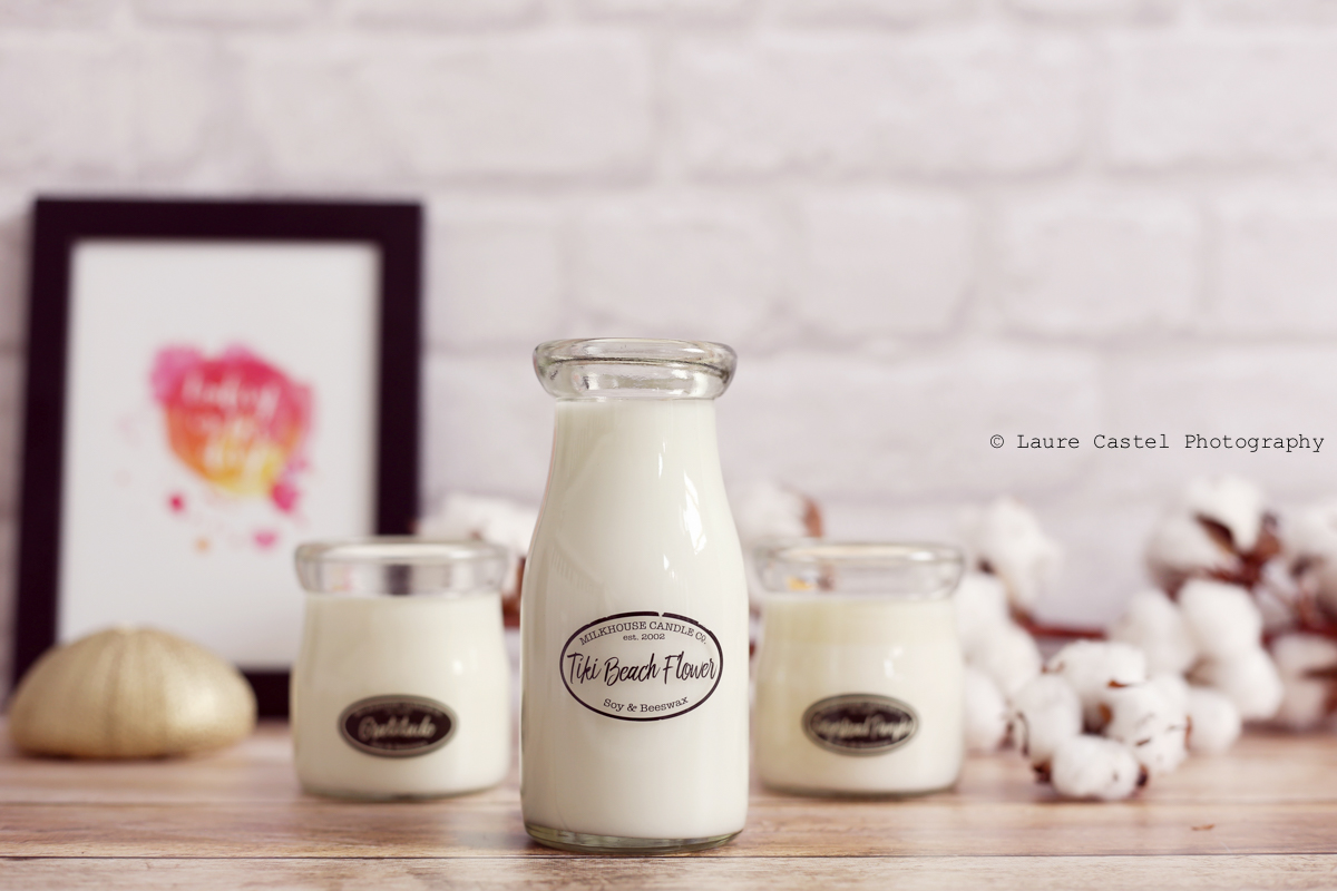 Bougie Tiki Beach Flower Milkhouse Candle Co | Les Petits Riens