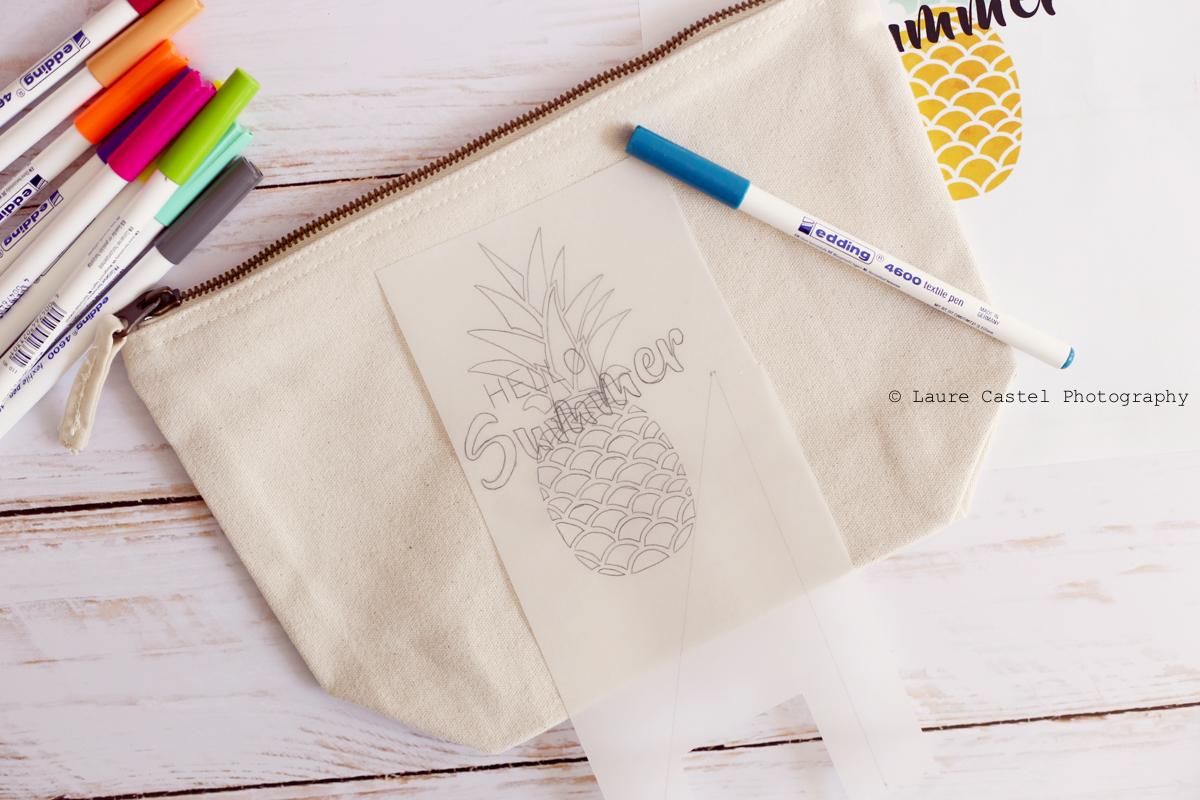 Feutres textiles Edding DIY facile | Les Petits Riens