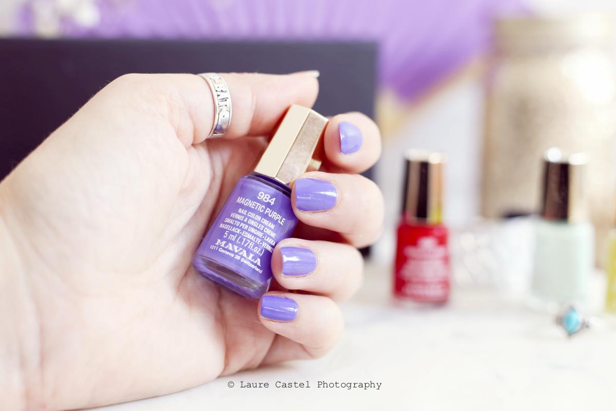 Magnetic Purple Dash & Splash color's de Mavala | Les Petits Riens