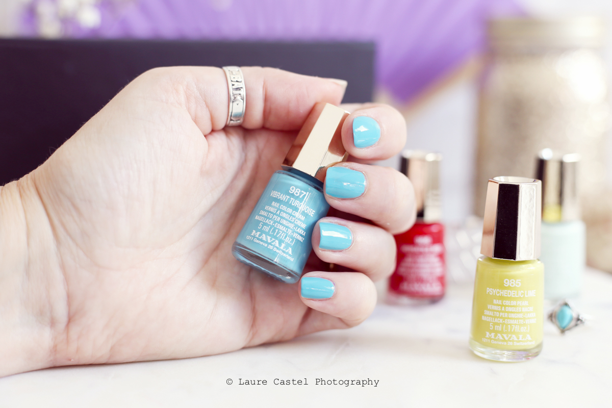 Vibrant Turquoise Dash & Splash color's de Mavala | Les Petits Riens