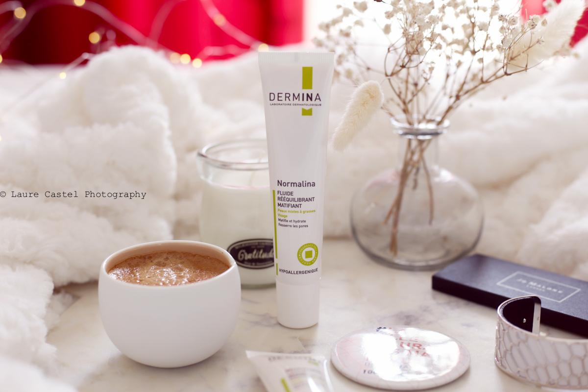 Fluide rééquilibrant matifiant Normalina de Dermina | Les Petits Riens