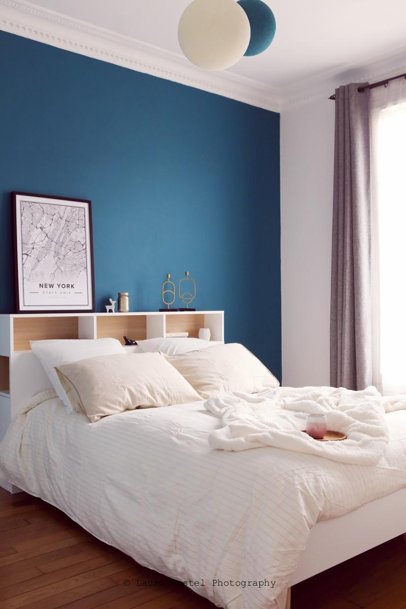 Chambre design scandinave mur Bleu Sarah Lavoine | Les Petits Riens